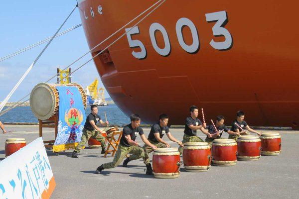 南極観測船「しらせ」入港歓迎セレモニー